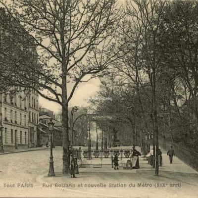 FF 1935 - Tout PARIS - Rue Botzaris et nouvelle Station du Métro (XIX° arrt)