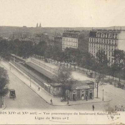 FF 2369 - Vue panoramique du Bd St-Jacques - Ligne du Métro n°2