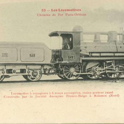 FF 25 - Les Locomotives - Chemins de Fer Paris-Orléans