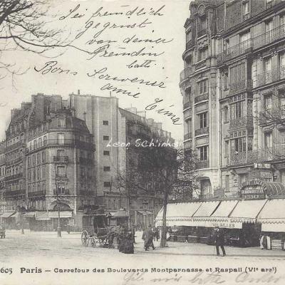 FF 2605 - Carrefour des Boulevards Montparnasse et Raspail