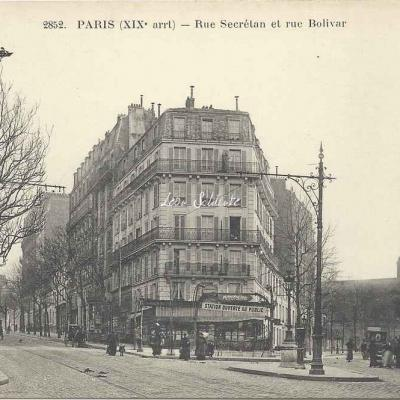 FF 2852 - Rue Secrétan et rue Bolivar