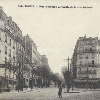 FF 2854 - Rue Secrétan à l'Angle de la rue Bolivar