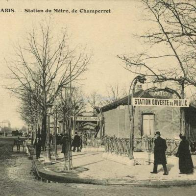 FF 2856 - PARIS - Station du Métro, de Champerret