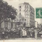 FF 2960 - Rue du Pré-Saint-Gervais et la nouvelle Station du Métro