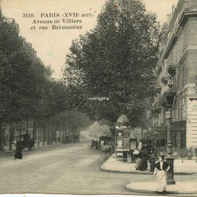 FF 3110 - PARIS (XVII° arrt) - Avenue de Villiers et rue Brémontier