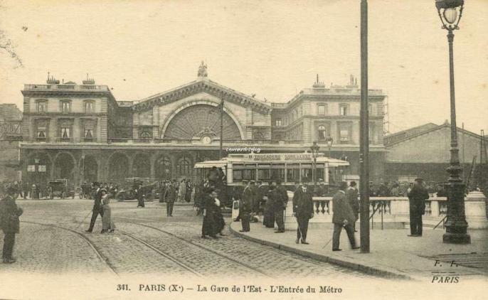 FF 341 - PARIS - La Gare de l'Est - L'Entrée du Métro