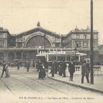 FF 351M - La Gare de l'Est - L'Entrée du Métro