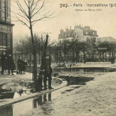 FF 363 - Inondations 1910 - Station de Bercy