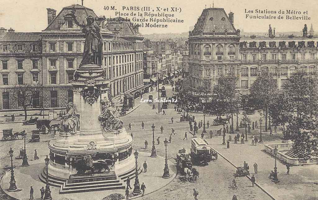 FF 40M - Place de la République Stations du Métro et Funiculaire