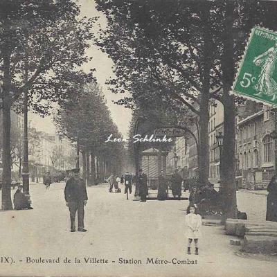 FF 42 bis - Boulevard de la Villette - Station Métro-Combat