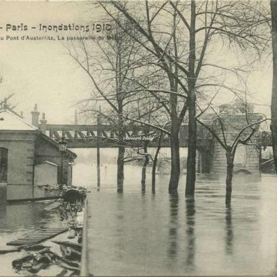 FF 43 - Paris - Inondations 1910 - La Seine au Pont d'Austerlitz