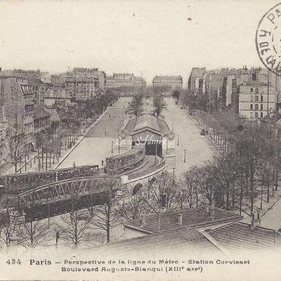 FF 434 - Perspective de la ligne du Metro - Station Corvisart