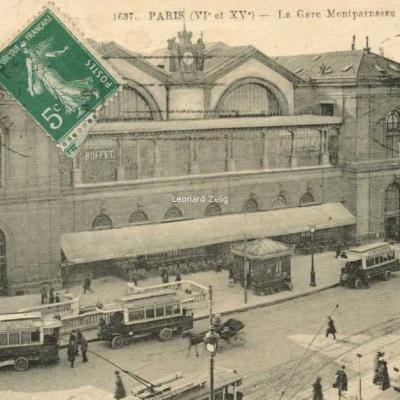 FF 1637 - PARIS - La Gare Montparnasse - Place de Rennes