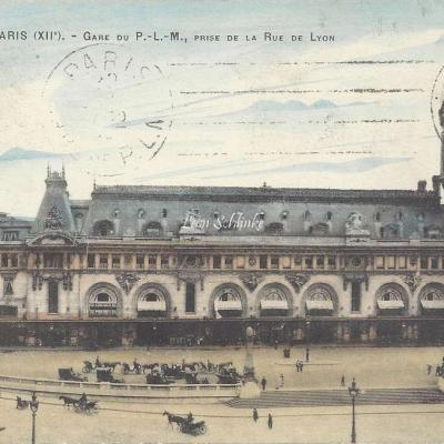 FF 52M - Gare du P.L.M., prise de la Rue de Lyon