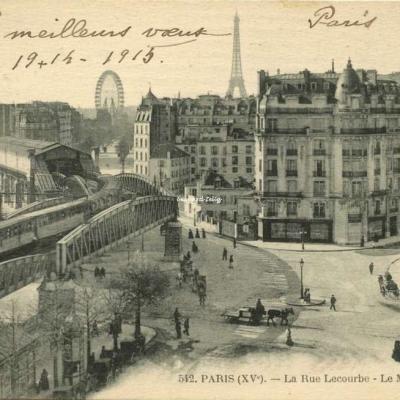 FF 542 - PARIS (XV°) - La Rue Lecourbe - Le Métro
