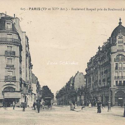 FF 607 - Boulevard Raspail pris du Boulevard du Montparnasse