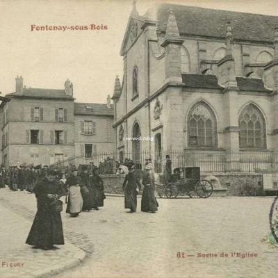 FF 61 - Fontenay sous Bois - Sortie de l'Eglise