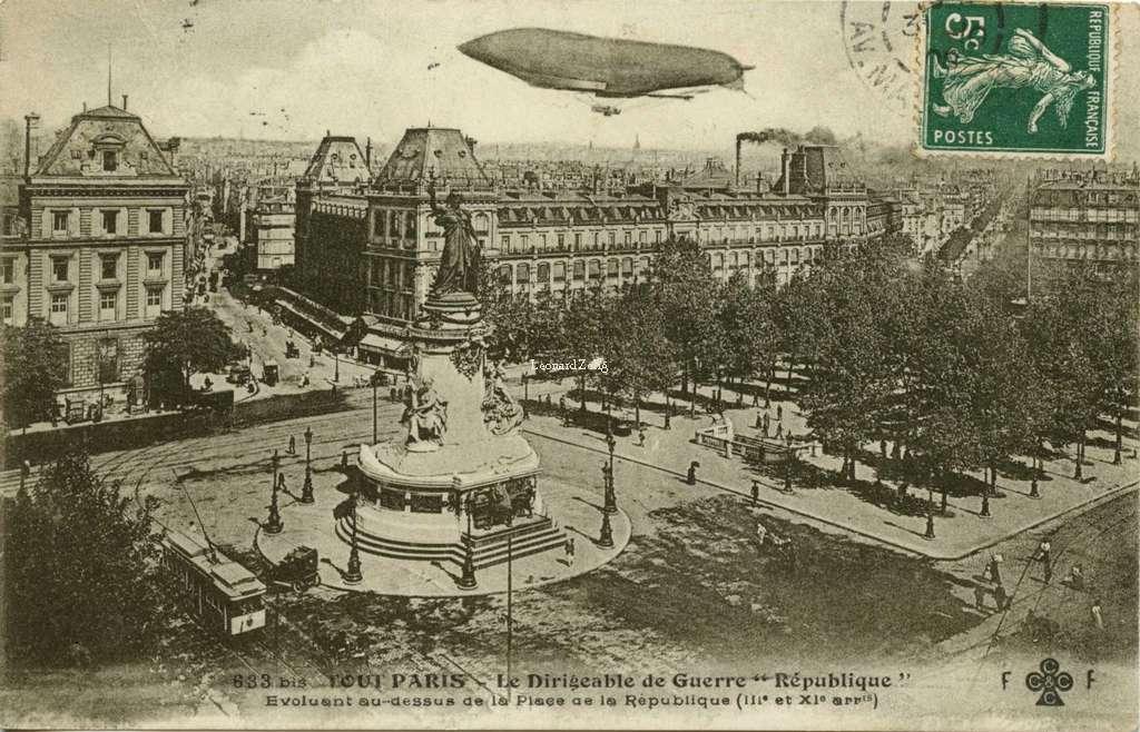 FF 633 bis - TOUT PARIS - Le Dirigeable de Guerre République