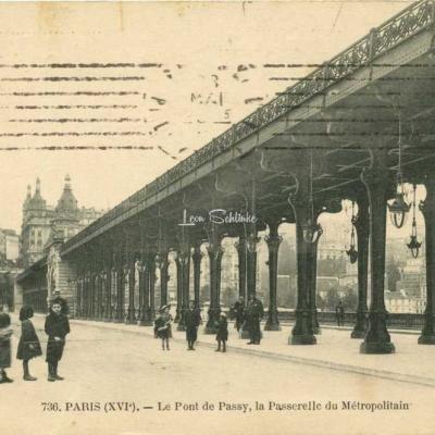 FF 736 - PARIS (XVI°) - Le Pont de Passy, la Passerelle du Métro