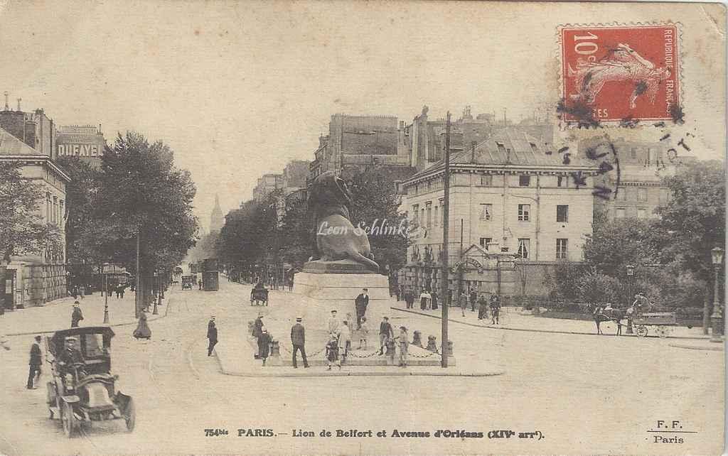 FF 754 bis - Lion de Belfort et Avenue d'Orléans