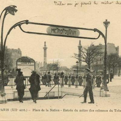 FF 758 - PARIS (XII arrt.) - Place de la Nation - Entrée du Métro