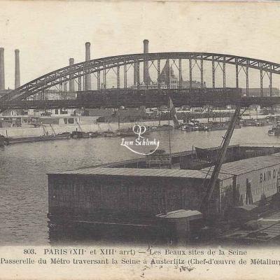 FF 803 - La Passerelle du Métro traversant la Seine