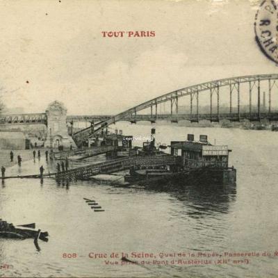 FF 808 - Tout Paris - Crue de la Seine au Quai de la Rapée