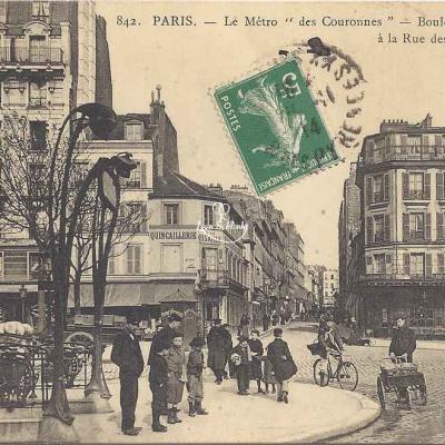 FF 842 - Le Métro ''des Couronnes'' à la rue des Couronnes
