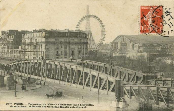 FF 846bis - PARIS - Panorama du Métro à Cambronne