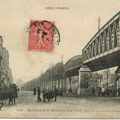 TOUT PARIS 848 - Boulevard de Grenelle - Pris de la rue du Comlmerce