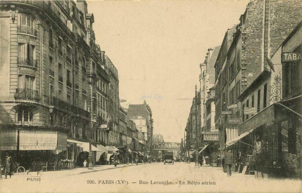 FF 996 - Rue Lecourbe - Le Métro aérien