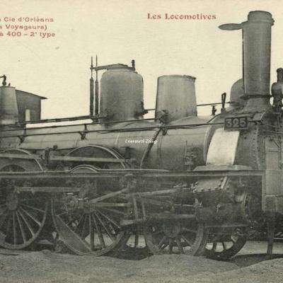 FF - Les Locomotives - Machine de la Cie d'Orléans (Service des Voyageurs)