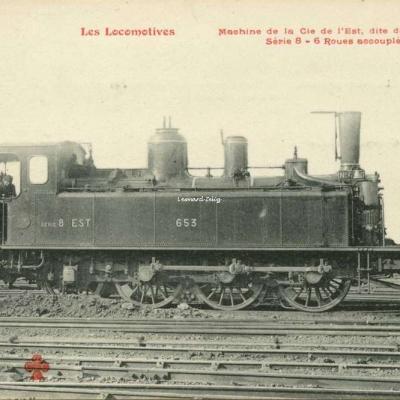 FF - Les Locomotives - Machine de la Cie de l'Est, dite de Banlieue