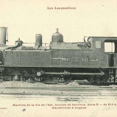 FF - Les Locomotives - Machine de la Cie de l'Est, Sevice de Banlieue