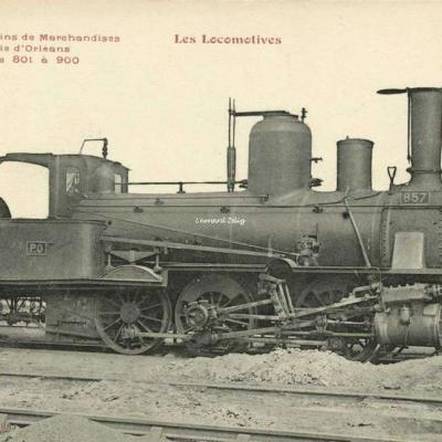 FF - Les Locomotives - Machine de Trains de Marchandises de la Cie d'Orléans