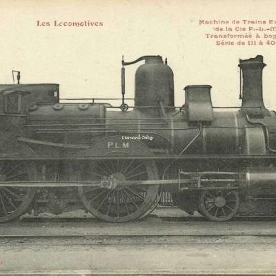 FF - Les Locomotives - Machine de Trains Express de la Cie P.-L.-M.