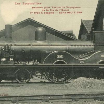 FF - Les Locomotives - Machine pour Trains de Voyageurs de la Cie de l'Ouest
