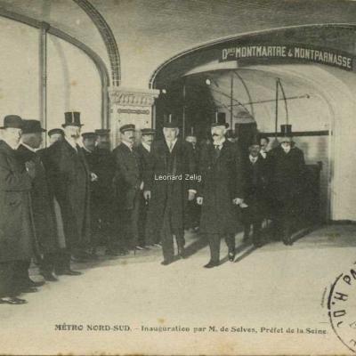 FF - METRO NORD-SUD - Inauguration par M. de Selves, Préfet de la Seine