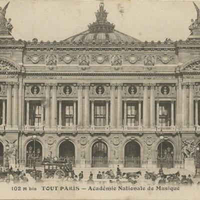 FF 102M bis - TOUT PARIS - Académie Nationale de Musique