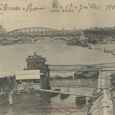 Tout Paris 1084 - Vue pittoresque de la Seine prise au Pont de Bercy