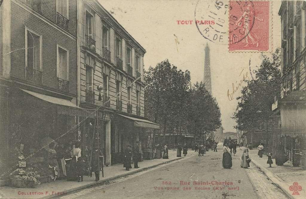 Tout Paris 362  - Rue Saint-Charles, vue prise des Ecoles
