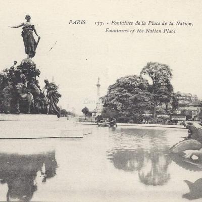 Cigogne 177 - Fontaines de la Place de la Nation