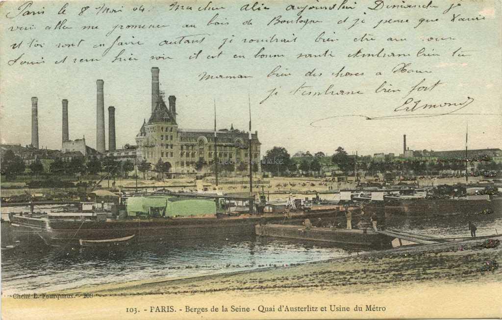Fourquaux 103 - Quai d'Austerlitz et Usine du Métro