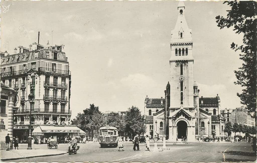 GALF 166 - PARIS - L'Eglise Saint-Pierre de Montrouge et Place Victor Bach