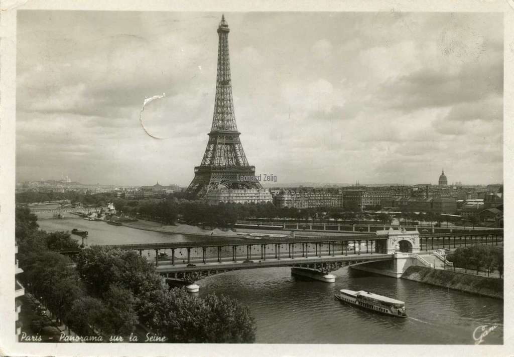 Gany 2523 - Paris - Panorama sur la Seine