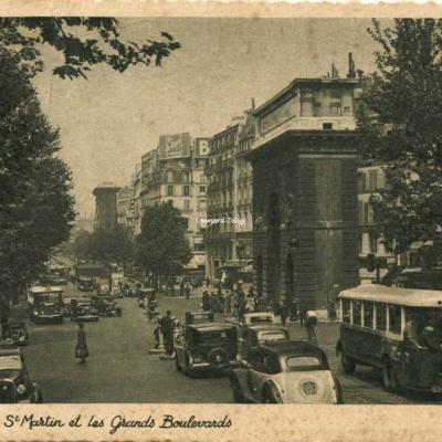 Gany 1134 - Paris - La Porte St Martin et les Grands Boulevards
