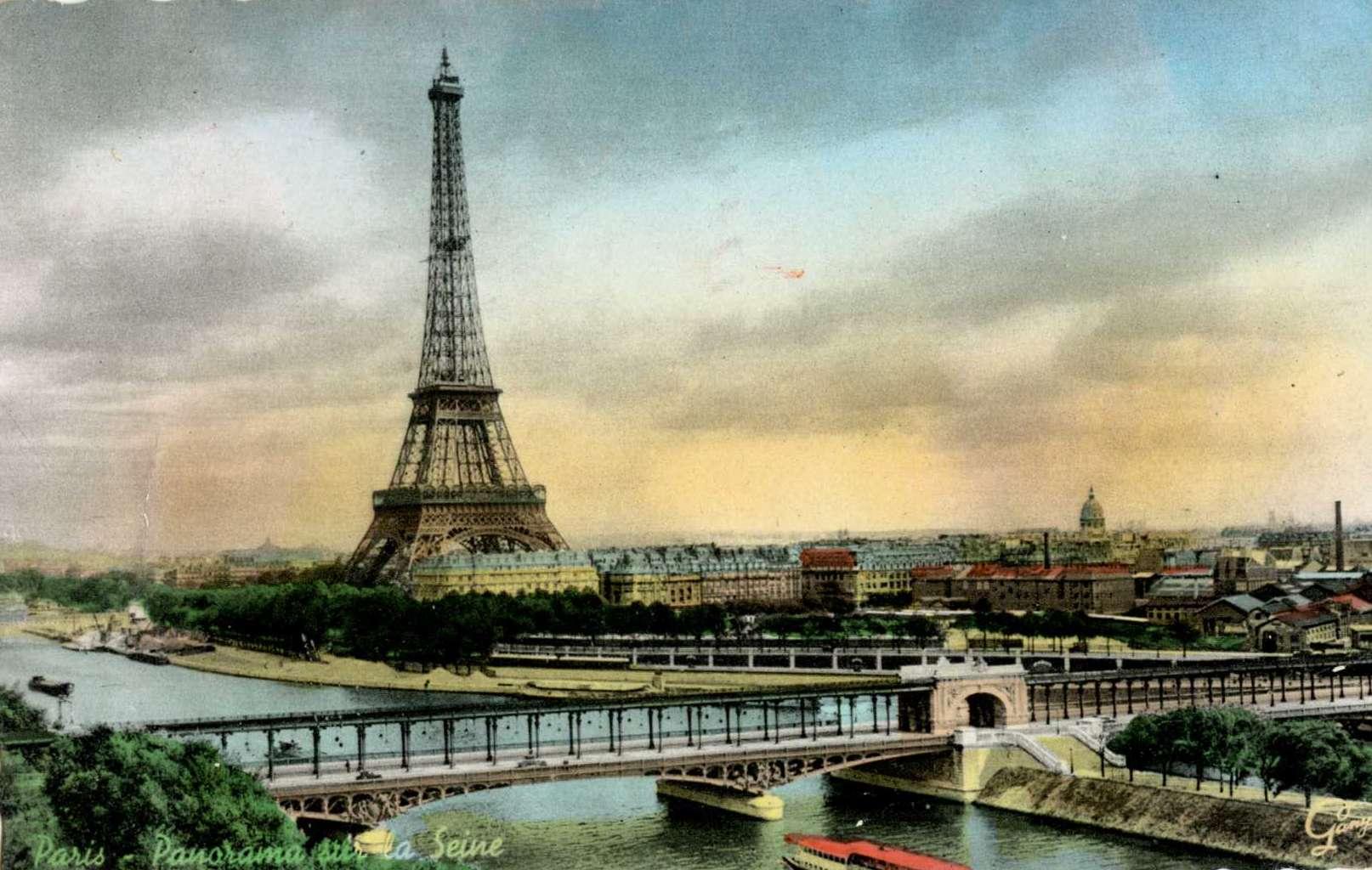 Gany 5023 - Paris - Panorama sur la Seine