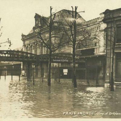 AHK - Paris Inondé 1910 - Gare d'Orléans-Austerlitz