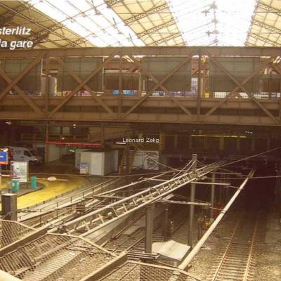 Gares de France - PARIS - Gare d'Austerlitz, le fond de la gare