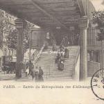 GB 166 - Entrée du Métropolitain rue d'Allemagne